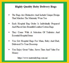 Maternity Bag delivers the ultimate in pre-packed maternity, hospital bags providing comfort, convenience and caring for women. Maternity Sleepwear, Maternity Wear, Baby Delivery, Hospital Bag, Cotton Bag, Money, Leather, Bags, Beautiful