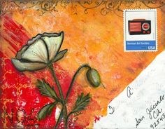 Mail art by Miss Iowa of ATC's For All. Click to view original