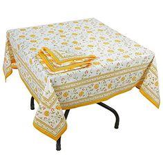 Tischdecke 140 cm x 140 cm und 4 Servietten set Baumwolle Wohnkultur indischen Zubehör ShalinIndia http://www.amazon.de/dp/B00NUZZV9C/ref=cm_sw_r_pi_dp_ska6vb1EAB268