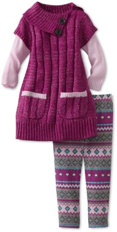 Little Lass Baby-Girls Infant 2 Piece Cable Sweater Set Crochet Shirt, Crochet Baby, Crochet For Kids, Sweater Set, Cable Sweater, Knitting For Kids, Baby Knitting Patterns, Kids Party Wear Dresses, Knitting Dolls Clothes