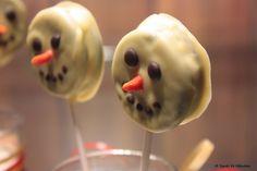Vegan - tagein, tagaus : Oreo* Snowmen Pops - Vegane Weihnachtsbäckerei VI