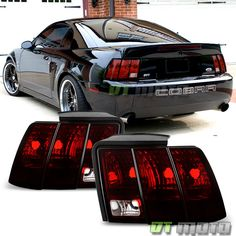 1999-2004 Ford Mustang Blk Tinted Tail lights Rear Brake Lamps Pair Left+Right in eBay Motors, Parts & Accessories, Car & Truck Parts | eBay