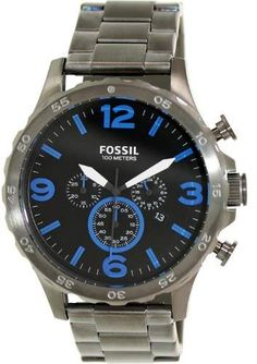 7ca9bf95e437 Fossil Nate JR1478 Black Dial Watch