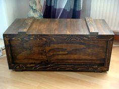 Truhe Holz Vintage Teekiste Beistelltisch Tisch Von Sossee Auf DaWanda