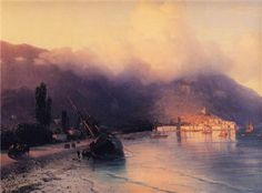 View of Yalta - Ivan Aivazovsky - Completion Date: 1867