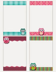 FREE Printable: Owl Notecards : Fashionable Moms