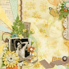A perfect vintage photo of my mum. For Mother's Day. Credits: Good Morning, Sunshine by Sugarplum Paperie, Here in this Moment by Sugarplum Paperie, Pumpkin Latte by Sugarplum Paperie, Template Nettio Designs - Memories in the Making
