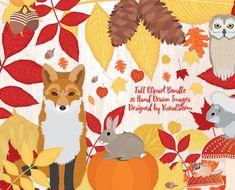 Fall Clipart Autumn Harvest Scrapbook Woodland by VizualStorm