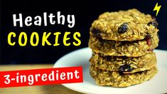 Healthy Cookie Recipe Today I'm going to show you how to make healthy banana oatmeal cookies. These healthy cookies are so easy to make and tast. Oatmeal Dessert, Healthy Oatmeal Cookies, Healthy Cookie Recipes, Healthy Cake, Healthy Treats, Cake Recipes, Dessert Recipes, Healthy Bedtime Snacks, Healthy Breakfast On The Go