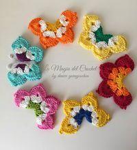 La Magia del Crochet: MARIPOSAS A CROCHET
