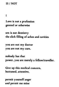 Sex is not the slick filling of aches and cavities... // Margaret Atwood