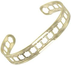 """Yellow Gold Gp Cuff Bangle Bracelet Letter Initial """"I"""" Private Label. $9.95. Width: 3/8"""" Length: 5 3/4"""" (excluding opening). Gold Plated Metal. Initial: I"""