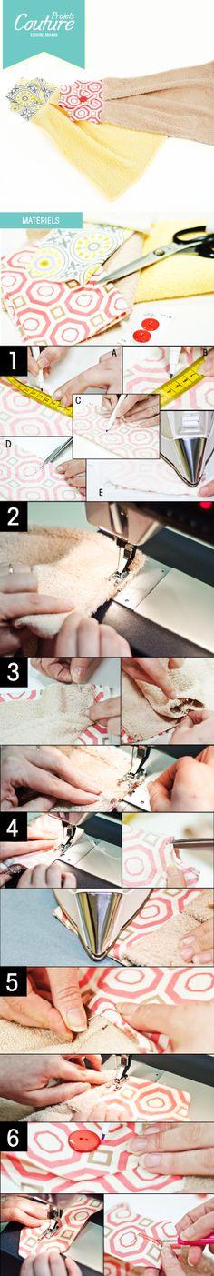 Des essuies-mains original!   http://clubtissus.com/articles-blog/articles-couture/projet-essuie-mains