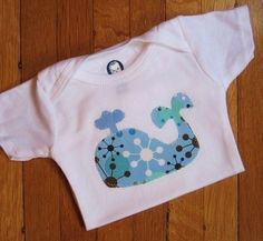 whale baby boy bodysuit appliqued on a carters by sobrightdesigns, $10.00