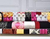 Floral neon patchwork sofa. $2,200.00, via Etsy.