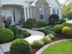 front home landscaping ideas simple front yard landscaping ideas as well as simple front yard landscaping ideas pictures simple front terraced house front garden ideas Front Yard Walkway, Front Yard Decor, Small Front Yard Landscaping, Cheap Landscaping Ideas, Front Yard Design, Home Landscaping, Front Yards, Natural Landscaping, Walkway Garden