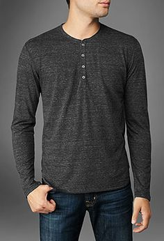 If I had to wear a uniform, it would be dark jeans a great henley like this.