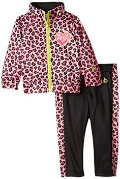 RBX Baby Girls 2 Piece Set  Jacket and Pants Leopard Pink 24 Months *** Check out the image by visiting the link. (This is an affiliate link) #BabyGirlHoodiesActive