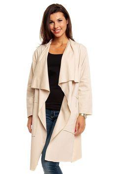 cardigan damen baumwolle beige bunt lang mantel pullover. Black Bedroom Furniture Sets. Home Design Ideas