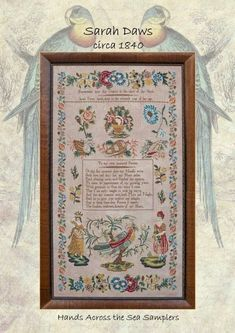Pre-order 2018 Nashville Market HANDS ACROSS the SEA Sarah Daws 1863 counted cross stitch patterns at thecottageneedle.com by thecottageneedle