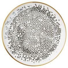 Check out this item at One Kings Lane! S/4 Metallic Cheetah Dessert Plates