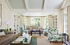 Tim Barber  Ceiling, layout, I want to see more of that tufted settee...