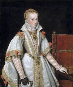 Anna of Austria,Queen of Spain(1570-1580).