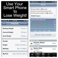 How to use your smart phone to track your weight loss!! It's like weight watchers but for free on your phone!!!