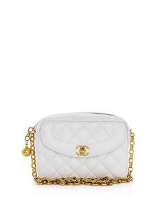 Vintage White Chanel Bag - in black