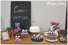 Festa simples e linda para comemorar o aniversário de 29 anos da Cami. Um happy hour cheio de cores, detalhes e gostosuras para reunir família e amigos.