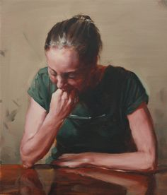 Michaël Borremans. Girl Eating, 2014. Oil on canvas, 24,0 x 36,5 cm