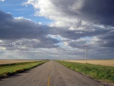 We have more highways and roads per cappita than anywhere in Canada North Country, Country Roads, Saskatchewan Canada, Sea To Shining Sea, Back Road, Beautiful Pictures, Paradise, Cross Stitch, Clouds
