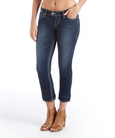 Look what I found on #zulily! Dark Wash Suki High-Rise Capris - Plus #zulilyfinds