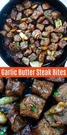 Steak Bites - garlic butter Sirloin steak bites with spice marinade. The beef bi. - Steak Bites – garlic butter Sirloin steak bites with spice marinade. The beef bites are so juicy, - Sirloin Tip Steak, Sirloin Steak Recipes, Steak Tips, Chuck Steak Recipes, Beef Chuck Steaks, Beef Round Steak, Steak Marinade Recipes, Cube Steak, Beef Tenderloin