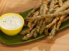 As seen on The Kitchen: Sunny's Beer Battered Moroccan Asparagus with Dip