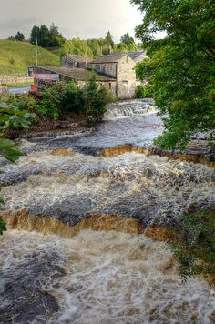 Waterfalls on the River Bain, Wensleydale, UK by Baz Richardson, via Flickr