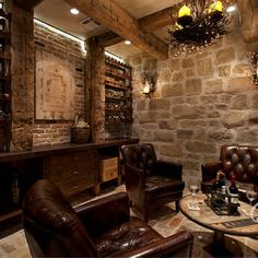 Tuscan Farmhouse - mediterranean - wine cellar - houston - Eklektik Interiors