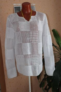 Одноклассники Crochet T Shirts, Crochet Clothes, Knit Crochet, Crotchet Patterns, Knitting Patterns, Crochet Jacket, Summer Tops, Urban Fashion, African Fashion