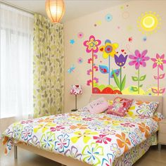 Flower Wall Stickers Trees baby room
