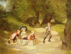 Giclee Print: The Toy Carriage, 1887 by Harry Brooker : Thing 1, Pre Raphaelite, Victorian Art, Classic Image, Find Art, Art History, Fine Art America, Tea Party, Oil On Canvas