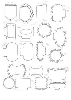 Free Doodle Tabs Printable ....Follow for Free 'too-neat-not-to-keep 'literacy tools  fun teaching stuff :)