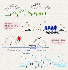 drawings drawing simple doodles kawaii easy pen womensbest ru landscaping