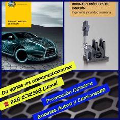 Ahora contamos con la linea de Bobinas en la Marca Hella, ya tenemos la mayoría del parque vehicular mexicano. Llamanos tenemos muy buen precio.