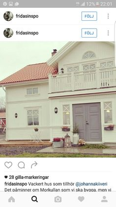 My Father's House, House Front, Future House, Nordic Home, Scandinavian Home, Beautiful Interiors, Beautiful Homes, Home Focus, Swedish House