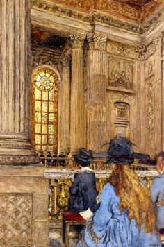 """""""The Chapel at the Château de Versailles"""": Edouard Vuillard, 1917-19."""