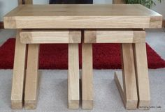 This bespoke rustic oak z coffee tables are handmade to order from solid oak and available in a choice of 4 colours.
