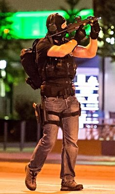 """""""Nothing like a guy looking hot in SWAT gear and jeans. Military Gear, Military Weapons, Tactical Equipment, Tactical Gear, Airsoft, Swat Gear, Military Special Forces, Special Ops, Military Police"""