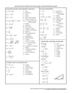 general physics equations sheet o level physics formula sheet mcat 528 pinterest physics. Black Bedroom Furniture Sets. Home Design Ideas
