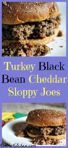 These non-traditional sloppy joes are made with ground turkey and black beans, and are flavored with cheddar cheese and a touch of chili seasoning.