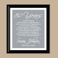 80th Birthday Print Gift 1937 Birthday Gift by DaizyBlueDesigns